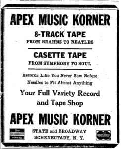Apex Music Korner 1972